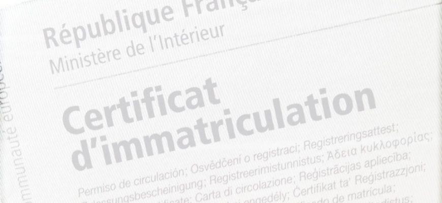 carte grise plaque d'immatriculation Bordeaux