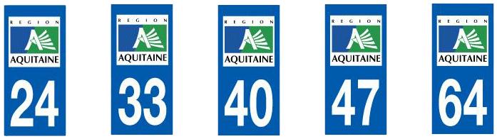 plaque d'immatriculation Bordeaux